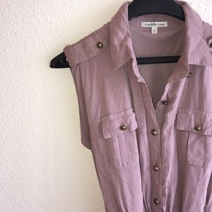 Belted, Button Up Dress from Charlotte Russe